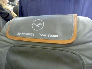 This is what the middle seat said. Danke!