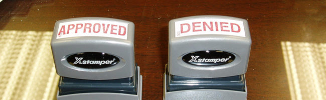 Approved/denied stamps