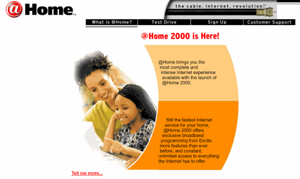 @Home website from 2000