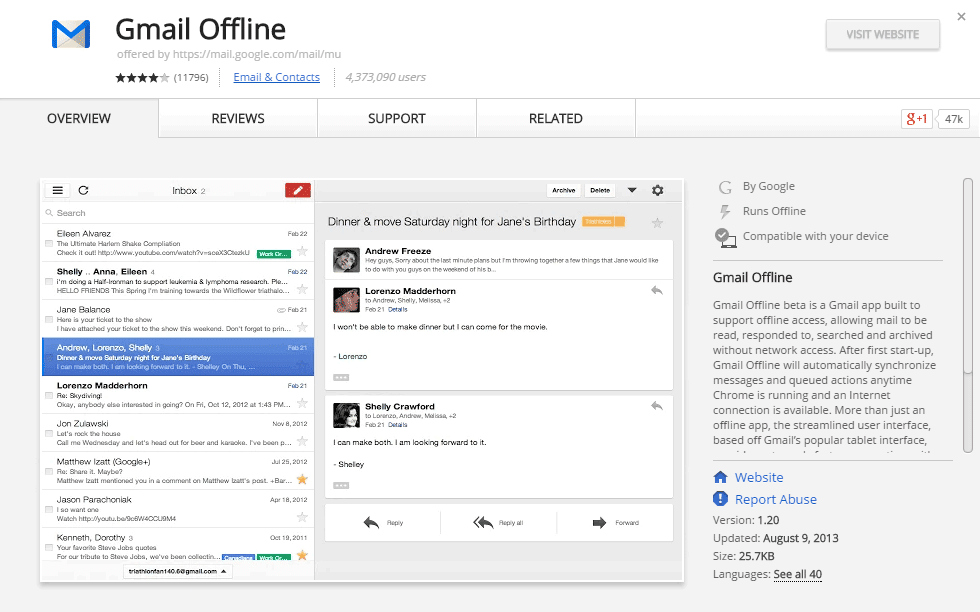 It's looks like Gmail, only worse. But it works.