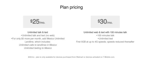 T-Mobile new plan