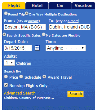 For best search results on Aer Lingus
