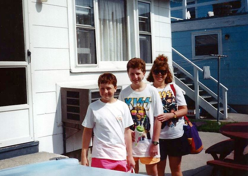 ca. 1990. I'm the one inexplicably not in uniform.